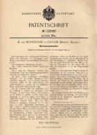 Original Patentschrift - H. Van Hoyweghen In Louvain , Brabant , 1899 , Matrizen - Prägemaschine , Druckerei !!! - Machines