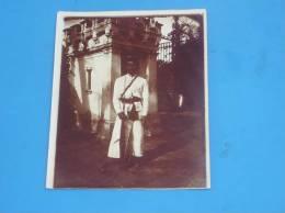 Photo Originale Ancienne Homme Militaire Indochine Vietnam(caserne Saigon?) - Viêt-Nam