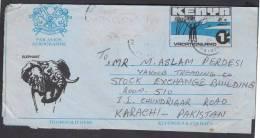 Elephant Head, A Tourist Paradise, Vacationland, Postal History Stationery Aerogramme From KENYA 1991 - Kenia (1963-...)