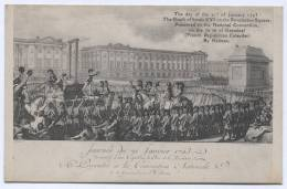 The Death Of Louis XVI, France, Art Postcard - Historische Figuren