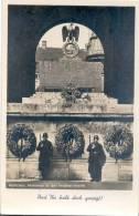 München Mahnmal In Der Feldherrnhalle Propaganda Adler Auf Swastika SS Wachleute Und Ihr Habt Doch Gesiegt! - Kriegerdenkmal