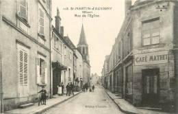 ST MARTIN D AUXIGNY       RUE DE L EGLISE     CAFE MATHET - Autres Communes