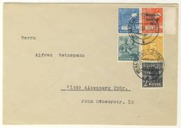 Gemeinschaftsausgaben Michel No. 943 c gestempelt used auf Brief Kontrollrat II