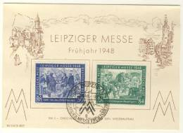 Gemeinschaftsausgaben Michel No. 967 - 968 gestempelt used auf Karte FDC Messe 1948