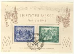 Gemeinschaftsausgaben Michel No. 967 - 968 auf Karte FDC Messe 1948