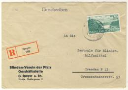 Rheinland Pfalz Michel No. 14 Gestempelt Used Auf Brief EF - French Zone
