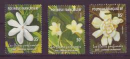 Polynésie   N° 652 à 654**  Neuf Sans Charnière  Fleurs Parfumees - Polynésie Française