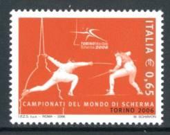 """ITALIA / ITALY 2006** - Campionati Mondiali Di Scherma """"Torino 2006"""" - 1 Val. MNH Come Da Scansione - Scherma"""