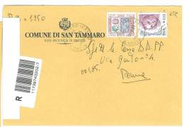 SAN TAMMARO CAP 81050  PROV. CASERTA  - ANNO 2005 -  R - TEMATICA COMUNI D´ITALIA - STORIA POSTALE - Affrancature Meccaniche Rosse (EMA)