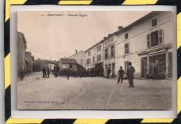 XERTIGNY. - . PLACE DE L'EGLISE. CIRCULEE EN 1916 - Xertigny