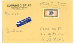 SALLE  65020 PROV. PESCARA  ANNO 2005 - LS - TEMA TOPIC COMUNI D´ITALIA - STORIA POSTALE - Affrancature Meccaniche Rosse (EMA)