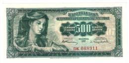 Yugoslavia 500 Dinara 1955. UNC P-70 - Yougoslavie