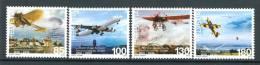 SVIZZERA / HELVETIA 2010** - Aviazione In Svizzera - 4 Val. MNH Come Da Scansione - Airplanes