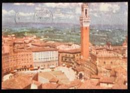 1959 SIENA PANORAMA DAL DUOMO FG V SEE 2 SCAN - Siena