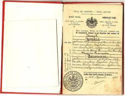 Stad Leuven - Burgerlijke Stand - Trouwboekje 1923 - Historical Documents