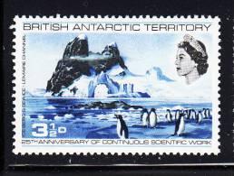 British Antarctic Territory MNH Scott #20 3 1/2p Adelie Penguins, Iceberg, Lemaire Channel - Territoire Antarctique Britannique  (BAT)