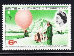 British Antarctic Territory MNH Scott #21 6p Weather Sonde And Operator - Territoire Antarctique Britannique  (BAT)