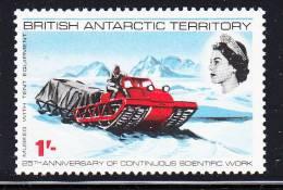 British Antarctic Territory MNH Scott #22 1sh Muskeg Tractor Pulling Tent And Equipment - Territoire Antarctique Britannique  (BAT)