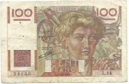 Billet 100 Francs Jeune Paysan O.7.11.1945.O - 1871-1952 Anciens Francs Circulés Au XXème
