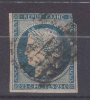 Lot N°18648   N°4a Bleu Foncé, Oblit Grille De 1849, - 1849-1850 Cérès
