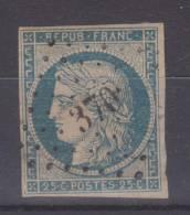 Lot N°18652   Variété/n°4, Oblit PC BERGUES(57), Ind 3, Filet OUEST, Belles Marges - 1849-1850 Ceres