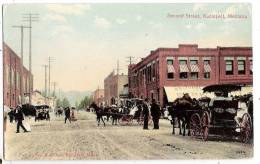 CPA Kalispell Second Street Attelage Chevaux    Montana Etats Unis - Etats-Unis