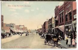 CPA Kalispell Main Street Attelage Chevaux    Montana Etats Unis - Etats-Unis
