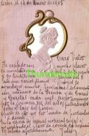 CPA EN RELIEF GAUFREE FEMME ART NOUVEAU ** EMBOSSED CARD ART NOUVEAU LADY MUCHA STYLE - Illustrateurs & Photographes