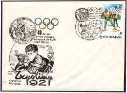 OLYMPIC GAMES HELSINKI - ROMANIA TIMISOARA 1992 - EXPOLIMP '92 - 40 YEARS 1st GOLD OLYMPIC MEDAL: LOSIF SARBU - SHOOTING - Schieten (Wapens)