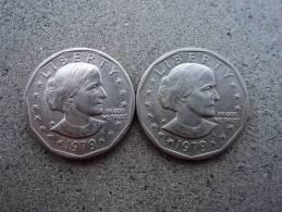 "STATI UNITI D'AMERICA - LOTTO  MONETE DOLLARO 1979 "" ANTHONY ""- - 1979-1999: Anthony"