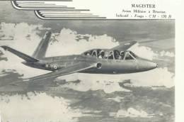 MAGISTER AVION MILITAIRE A REACTION FOUGA CM 170 R  AVION DE CHASSE AVIATION - 1946-....: Modern Era