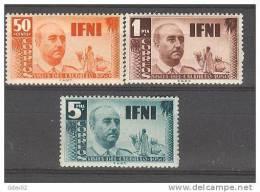 IF73-2621TAMO.Marrucos.  Maroc  ,Marocco,IFNI  ESPAÑOL.General Franco.1951 .(Ed 73/5**) Sin Charnela.LUJO - Sellos