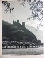 Savoie , Chateau De Chantemerle , Prés De Tours , En Tarentaise , Héliogravure De 1954 - Documents Historiques
