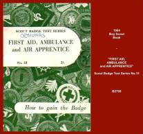"""B2709  (Scout Badge Test Series No.15)  """"FIRST AID, AMBULANCE And AIR APPRENTICE"""" - Children's"""