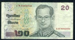 Thailand 20 Baht Banknote In Nice Circulated Condition - Thailand