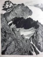 Savoie , L'Albaron , Les Dents Du Collerin Et Le Col De La Bessanése , Héliogravure De 1954 - Documents Historiques