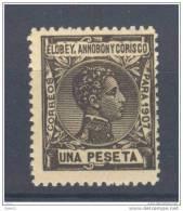 EAC45-L3511.Guinee . Guinea.ELOBEY,ANNOBON  Y CORISCO.Alfonso Xlll.1907 (Ed 45**) Sin Charnela.MAGNIFICO - Elobey, Annobon & Corisco