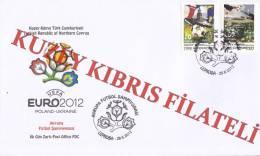 "Turkish Cyprus (TRNC) - 2012 - ""EUROPEAN FOOTBALL CHAMPIONSHIP"" - FDC - Cyprus (Turkey)"