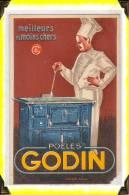 "French Publicity Cart  For Stove   -   Poêle  ""Godin"" - Publicidad"