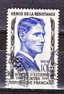 """FRANCE / 1957 / Y&T N° 1101 : """"1ère Série Résistance"""" (D'Estienne D'Orves) - Choisi - Cachet Rond - France"""