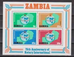 Sambia / Zambia 1980 Mi. B 8** MNH - Rotary - Zambia (1965-...)