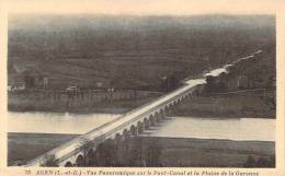 47 - Agen - Vue Panoramique Sur Le Pont-Canal Et La Plaine De La Garonne - Agen