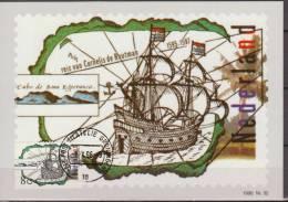 Nederland, Netherlands, 1996, Discoveries, Discoverers, Cornelus De Houtman, Map, Maximumcard - Aardrijkskunde