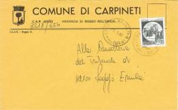 Carta Comune Di CARPINETI  (Re) Italia 1987 - 6. 1946-.. Repubblica