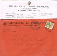 Carta Comune Di SAN SEVERO  (Re) Italia 1968 - 1981-90: Storia Postale
