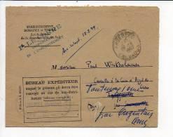 1949 /  En Franchise CAD De Argences Pour Fontenay Sur Orne Sur Env. Enregistrement Domaines Et Timbres - 1921-1960: Modern Tijdperk
