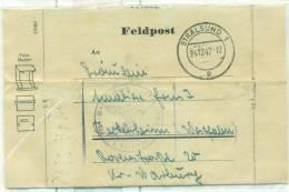 "Allemagne - Lettre ""Feldpost"" De Pelkelsheim Du 24/12/42, See Scan - Cartas"