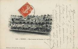 NÎMES UNE JOURNEE DE COURSES (1er Vue) LES ARENES 1900 - Nîmes