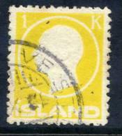 ICELAND 1912 Frederik VIII 1 Kr.. Used.   Michel 73 - Used Stamps
