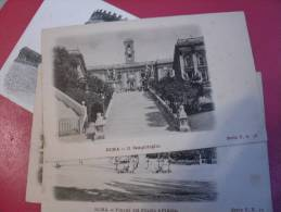 4 CARTE DE ROME DOS 1900 - Cartoline
